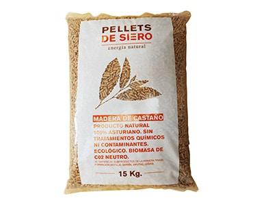 Sweet chestnut pellets