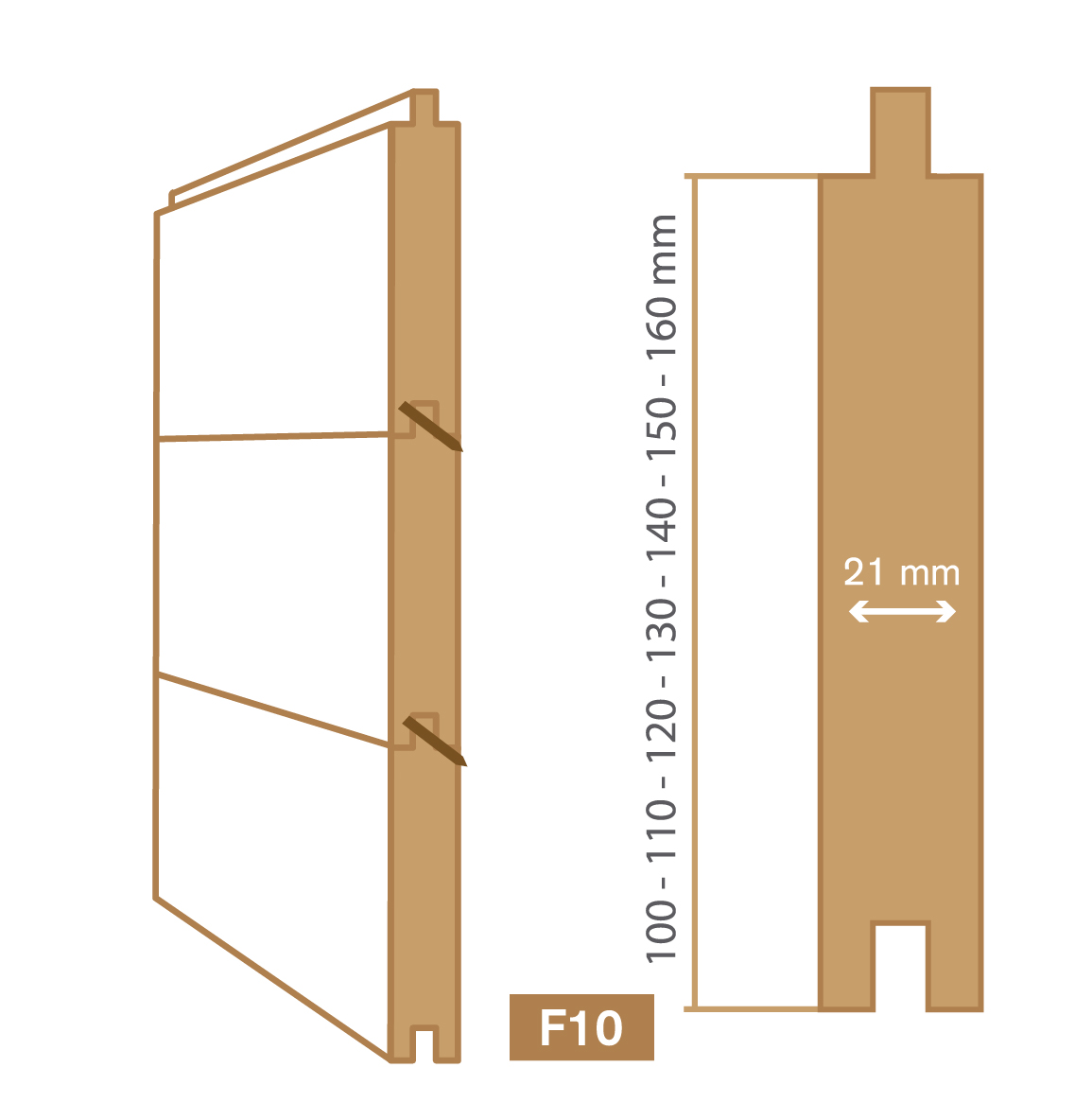 wooden cladding f10 type
