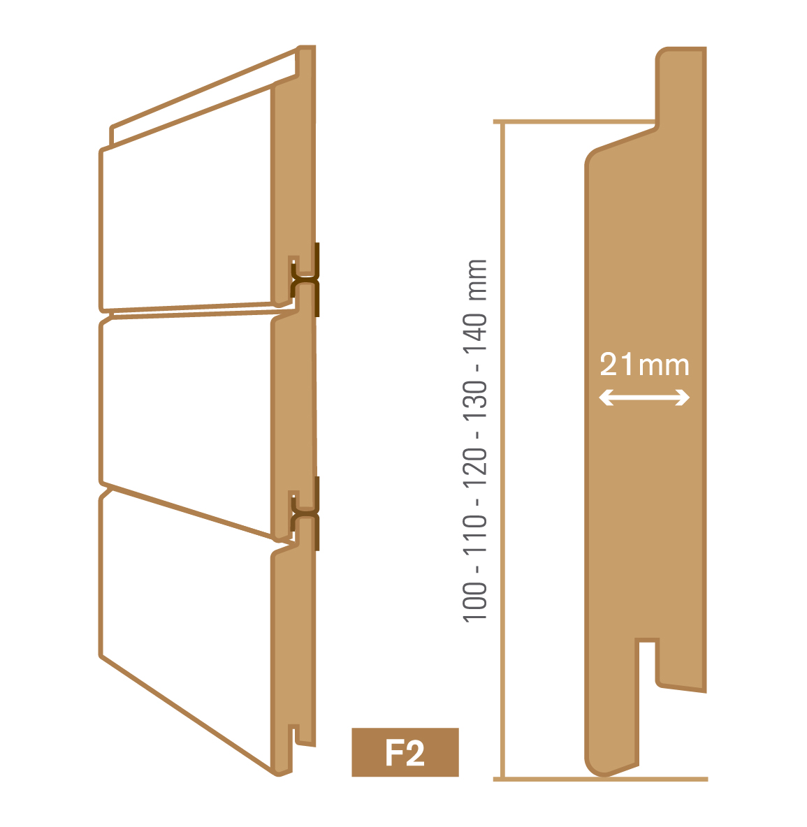 wooden cladding f2 type