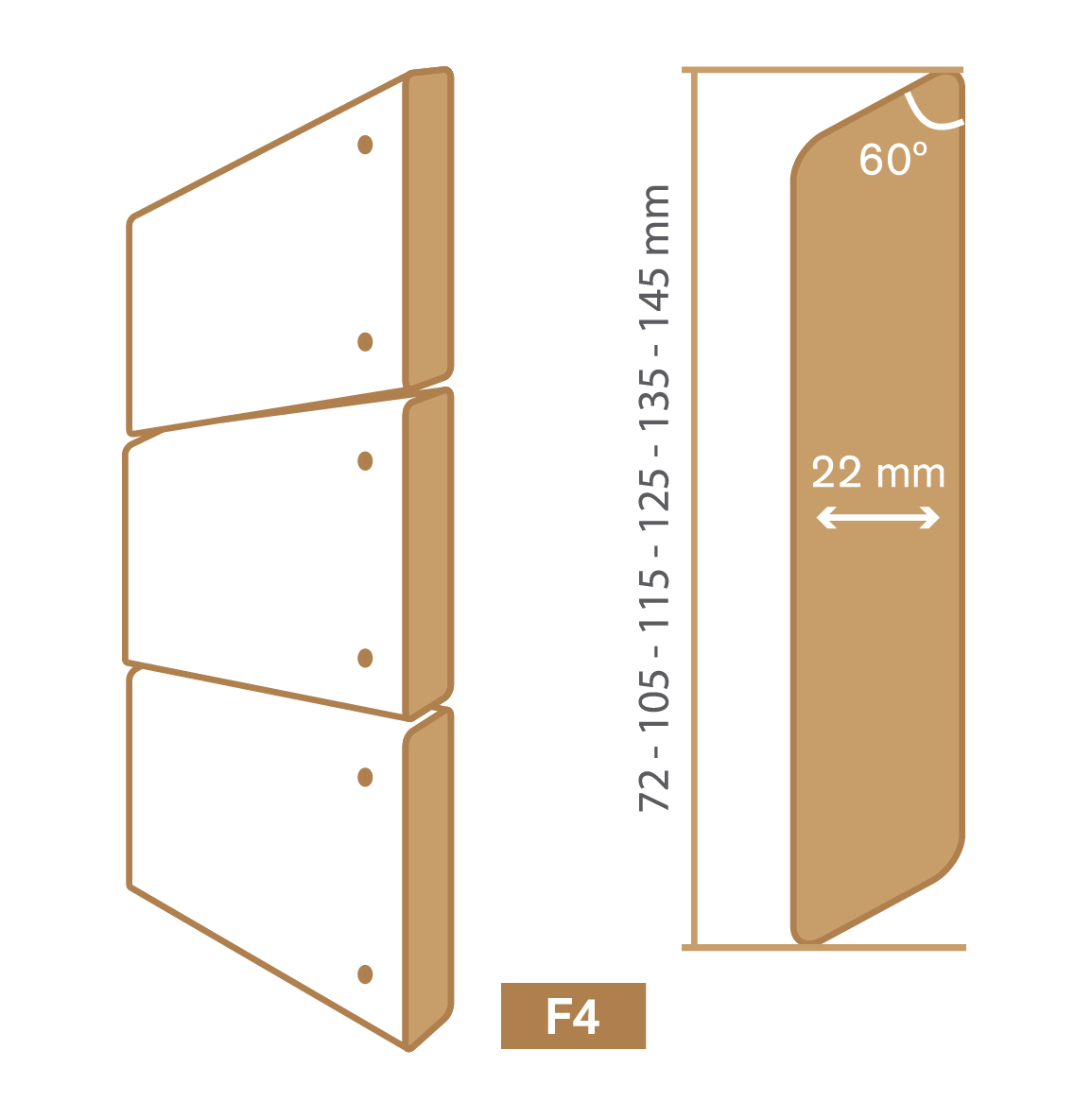 wooden cladding f4 type