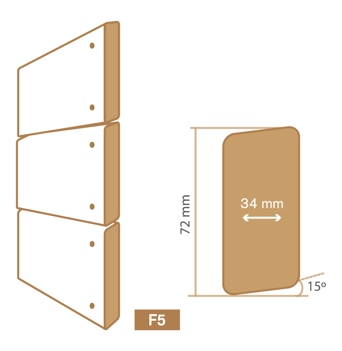 wooden cladding f5 type