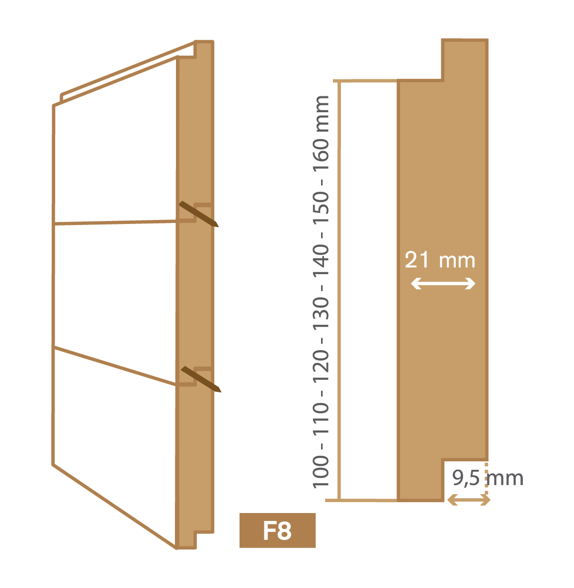 wooden cladding f8 type
