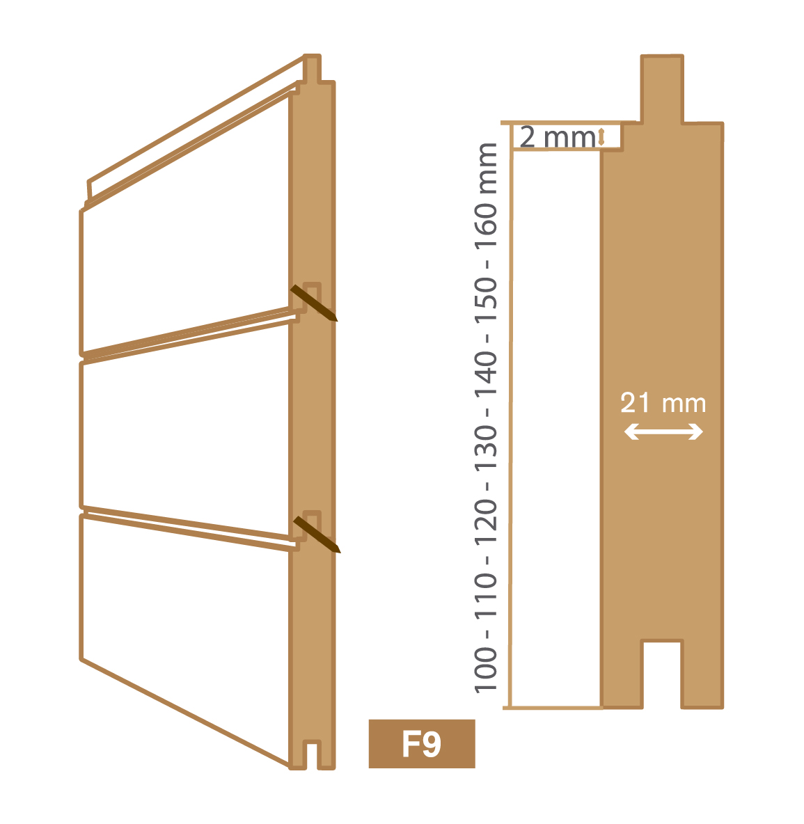 wooden cladding f9 type
